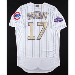 147e4e1e8 Kris Bryant Signed Cubs Majestic Authentic Jersey Inscribed 2016 WS Champs  (MLB Fanatics Hologram