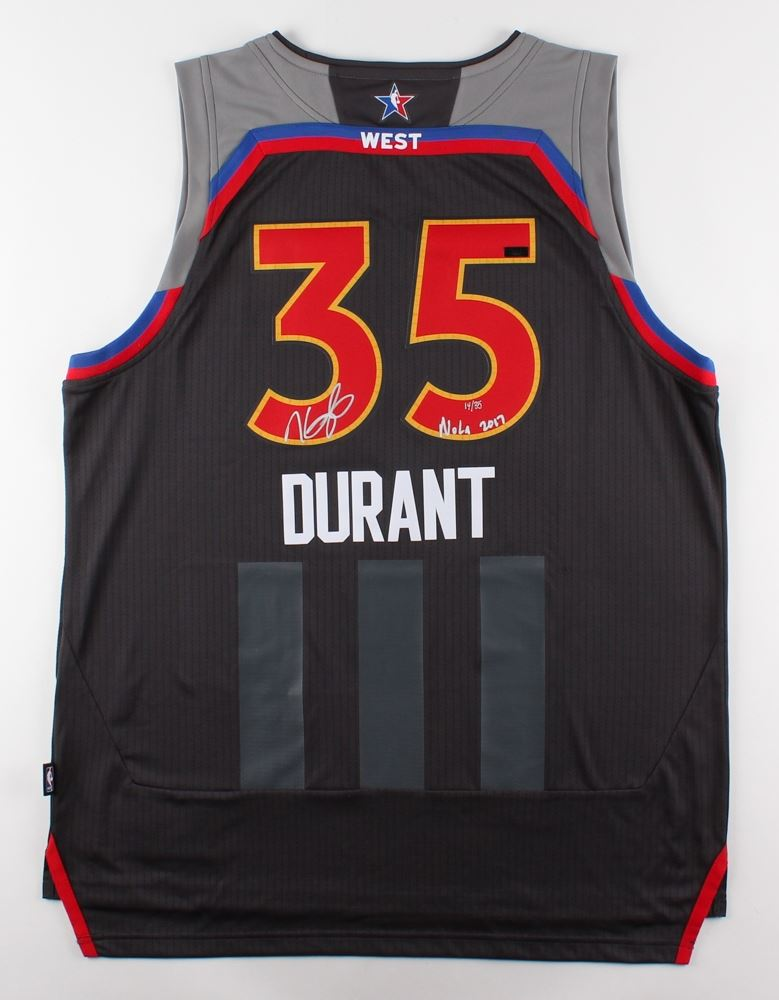 buy online 7aaa6 ec9de Kevin Durant Signed LE 2017 All Star Adidas Jersey Inscribed ...