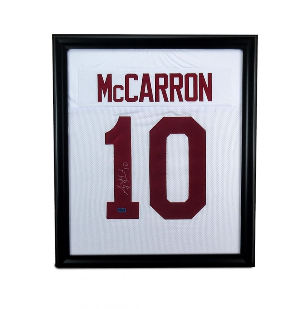 check out 2b966 dce91 AJ McCarron Signed Alabama 23x27 Custom Framed Jersey ...