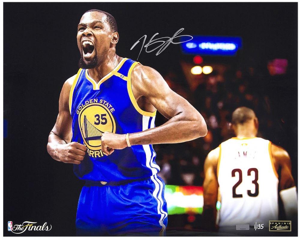 premium selection 8e7e0 cbe05 Kevin Durant Signed Warriors
