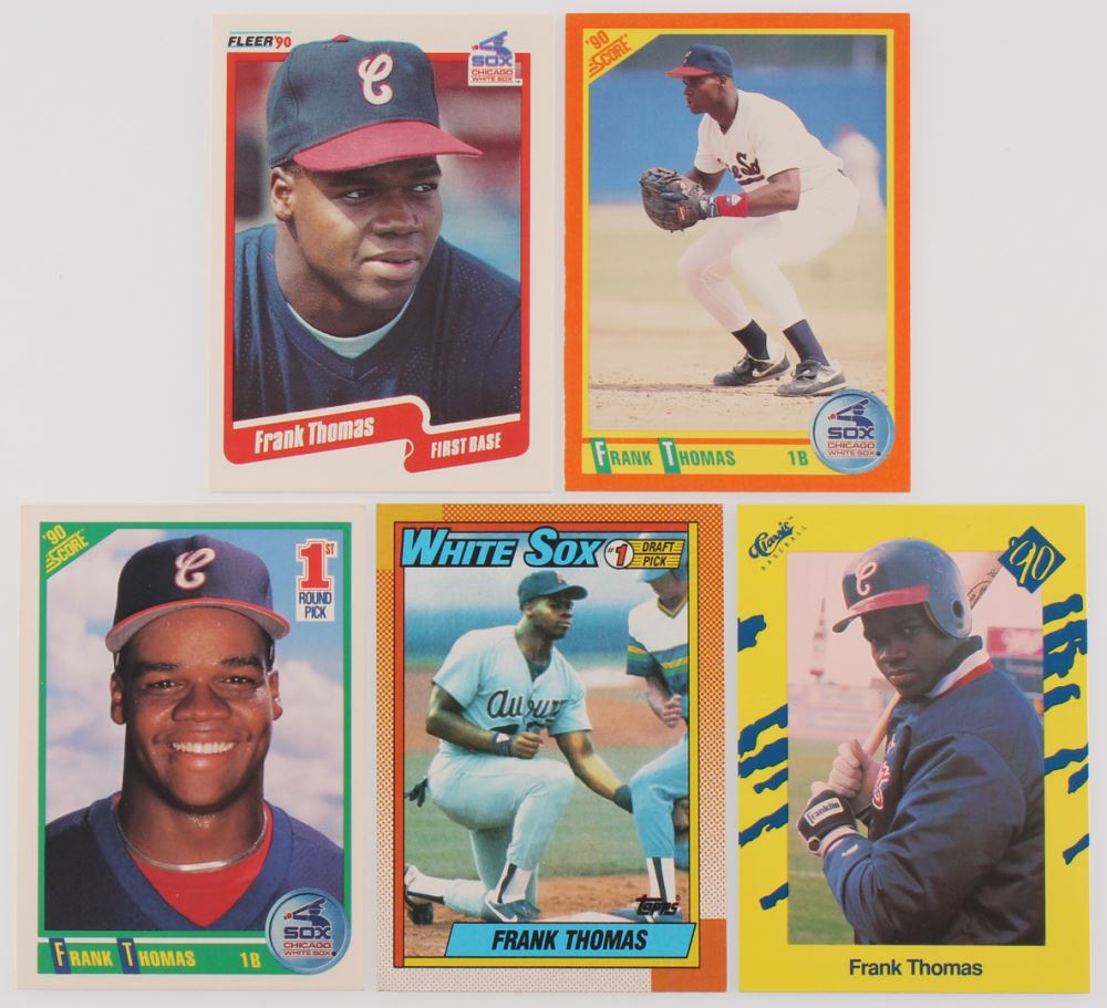 d8eddf70b Image 1   Lot of (5) Frank Thomas Cards with 1990 Classic Yellow