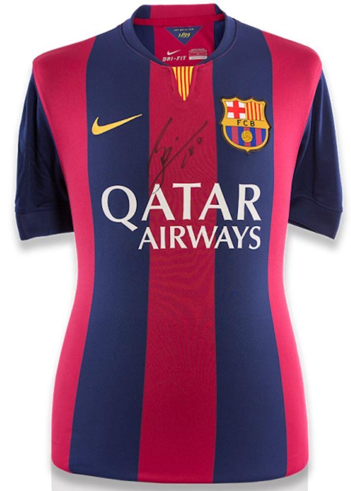 36af7edd4 Image 1   Lionel Messi Signed Barcelona Jersey Inscribed