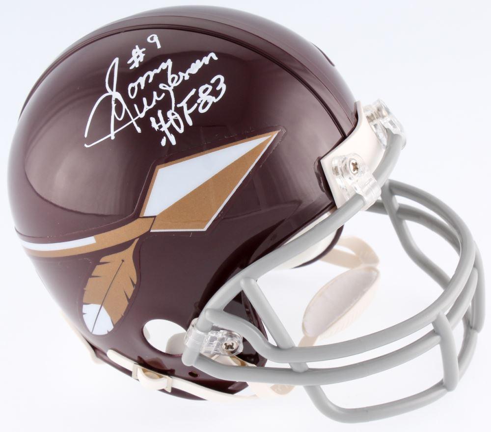 5485e0ca017 Image 1 : Sonny Jurgensen Signed Redskins Throwback Mini-Helmet Inscribed