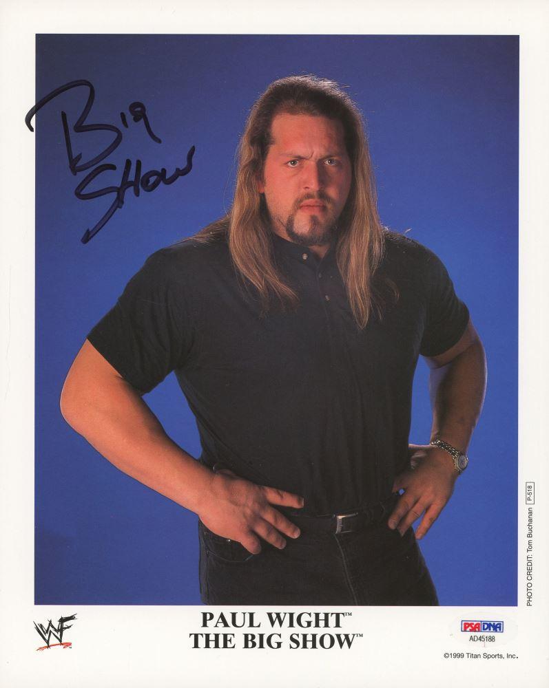 Paul Wight Big Show Signed Wwf 8x10 Photo Psa Coa