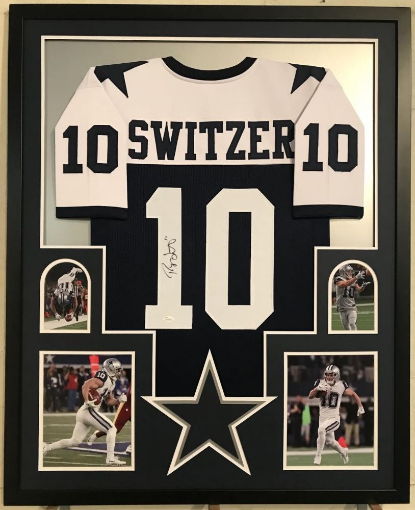 timeless design 49d20 95546 Ryan Switzer Signed Cowboys 34x42 Custom Framed Jersey ...