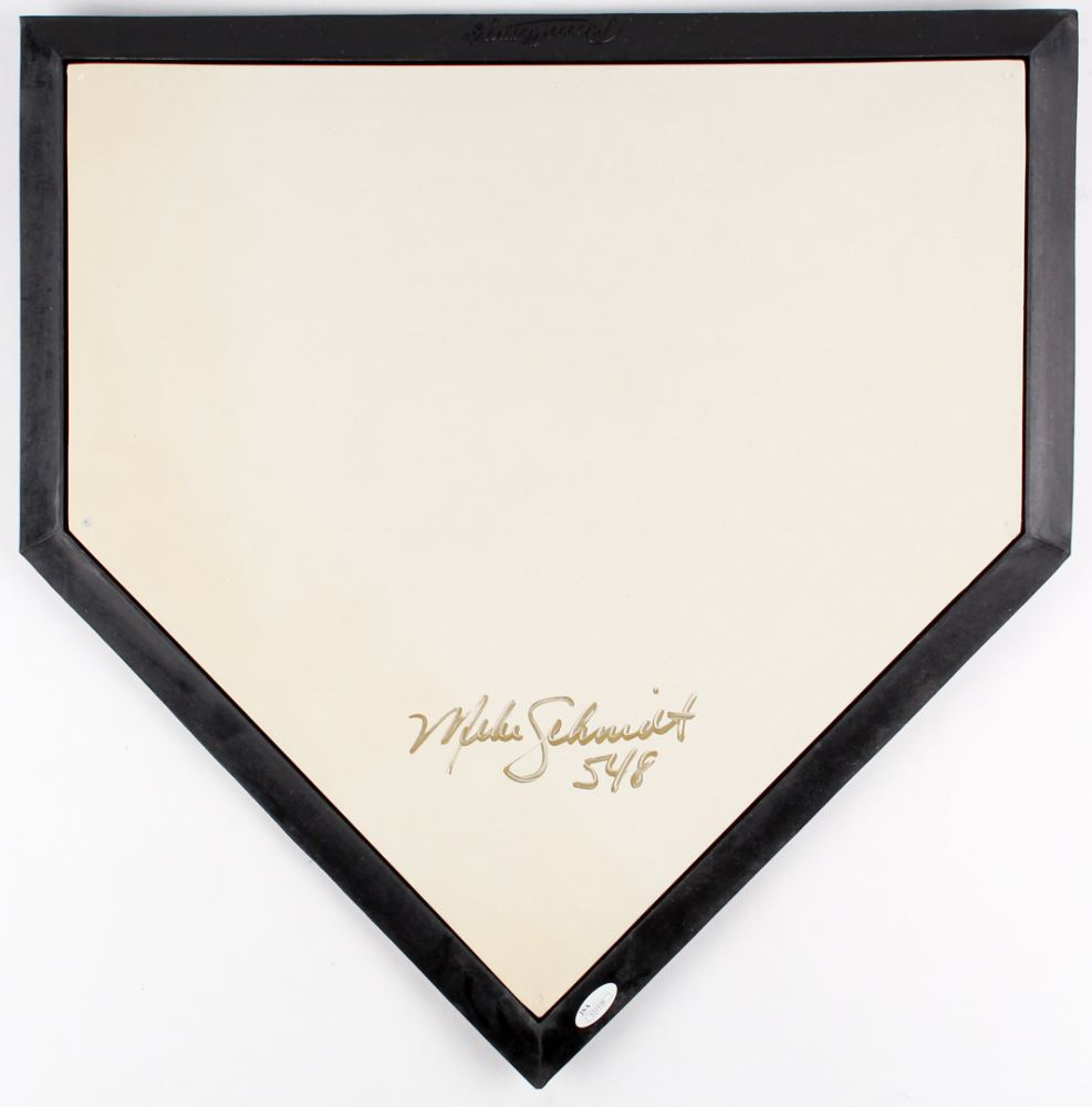Groovy Mike Schmidt Signed Home Plate Inscribed 548 Jsa Coa Download Free Architecture Designs Rallybritishbridgeorg