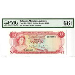 Bahamas Monetary Authority, 1968, Issued Banknote.