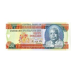 Central Bank of Barbados, 1989 Issue Replacement Banknote.