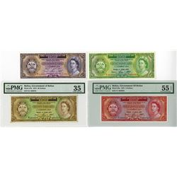 Government of Belize, 1975 Issue Banknote Quartet.