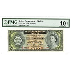 Government of Belize, 1976 Issued Banknote.
