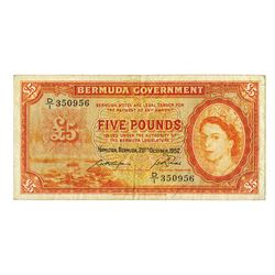 Bermuda Government, 1952 Issue Banknote.