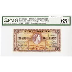 Bermuda Government, 1957 Issued Banknote.