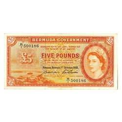 Bermuda Government, 1966 Issue Banknote.
