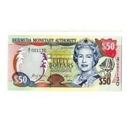 Bermuda Monetary Authority, 2000 Issue Replacement Banknote.
