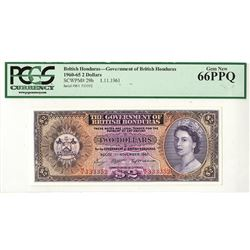 Government of British Honduras, 1961 Issue Banknote.