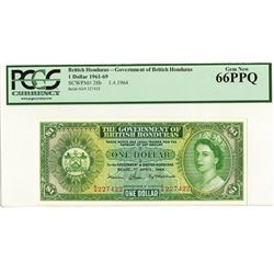 Government of British Honduras, 1964 Issue Banknote.