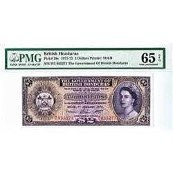 Government of British Honduras, 1972 Issue Banknote.