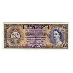 Government of British Honduras, 1973 Issued Banknote.