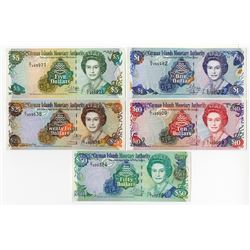 Cayman Islands Currency Board, 2001 to 2003 Banknote Assortment