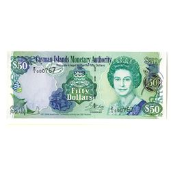 Cayman Islands Monetary Authority, 2001/2001 Revision Issue Replacement Banknote.