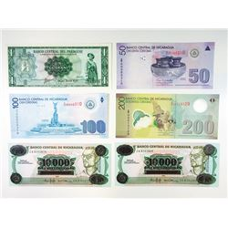 Nicaragua and Paraguay, Uncirculated Replacement Note Assortment.