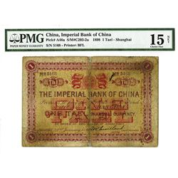 "Imperial Bank of China, Shanghai Branch, 1898 ""Tael"" Issue."
