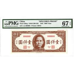 Central Bank of China, 1945 Issue Specimen Proof Banknote.