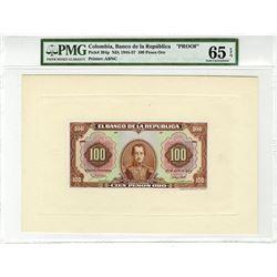 Banco de la Republica, 1941, 10 Pesos Oro Proof Banknote.