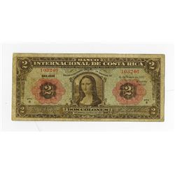 Banco Internacional de Costa Rica, 1932, Issued Banknote.