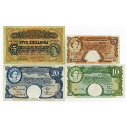 East African Currency Board, 1953-1963 Banknote Quartet.