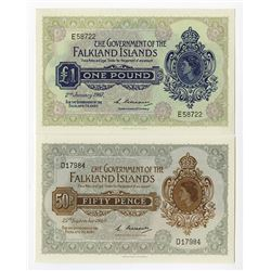 Government of the Falkland Islands, 1967 and 1969 Banknote Pairing