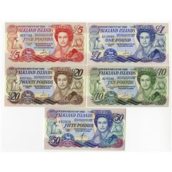 Government of the Falkland Islands, 1983 to 1990 Banknote Assortment