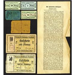 Pegau and Fritz Keim 1914-1918 Issue Emergency Scrip notes.