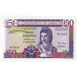 Government of Gibraltar, 1986, £50