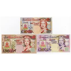 Government of Gibraltar, 1995 Banknote Assortment