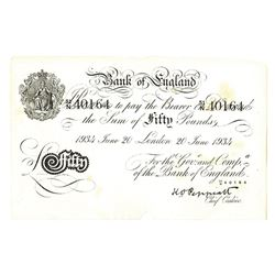 Bank of England, 1934, Issued Operation Bernhard Banknote.