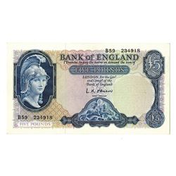 Bank of England, ND (1957-1961), Issued Banknote.