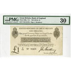 Bank of England, ND (1914) Issue Banknote.