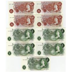 Bank of England, 1963-1967 Replacement Banknote Assortment.