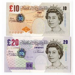 Bank of England, 2000 Replacement Banknote Pair.