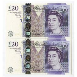 Bank of England, 2006 Replacement Banknote Pair.