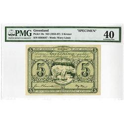 Greenland, Danish Administration, ND (1953-67)  Issue Specimen Banknote.