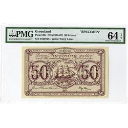 Greenland, Danish Administration, ND (1953-67)  Issue Specimen Banknote.