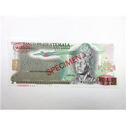 Banco De Guatemala, ND (ca.1969-75) Specimen Banknote.