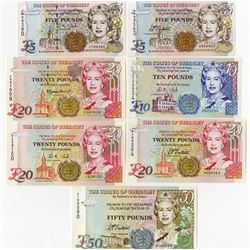 States of Guernsey, 1994 to 1996 Banknote Assortment