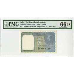 Government of India, British Administration, 1940 High Grade Issued Banknote.