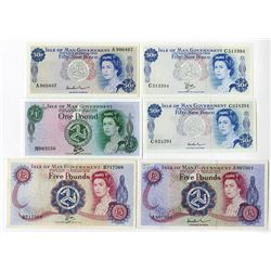 Isle of Man Government, 1972 to 1979, Banknote Assortment