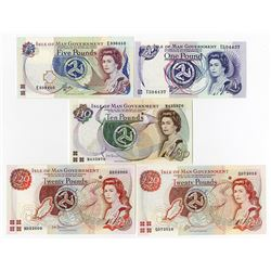 Isle of Man Government, 1983 to 2000, Banknote Assortment