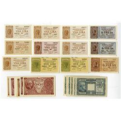 Italias Biglietto Di Stato a Corso Legale, ca.1944 & Bueno Di Cassa Notes