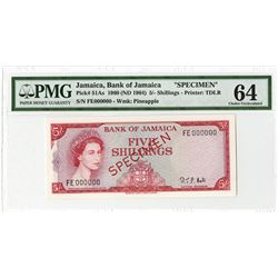 Bank of Jamaica, 1960 (ND 1964) Specimen Banknote.